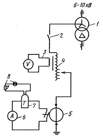 Схема включения дугогасящей