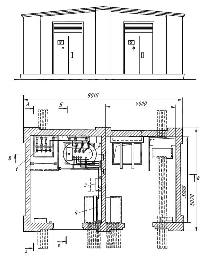 типовой проект трансформаторной подстанции шкафного типа